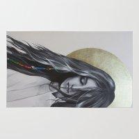 bohemian Area & Throw Rugs featuring Bohemian Angel by Iva Mara