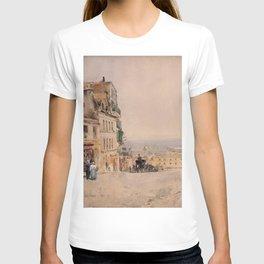 Childe Hassam - View in Montmartre, Paris T-shirt