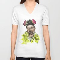 walter white V-neck T-shirts featuring Walter White  by Madows