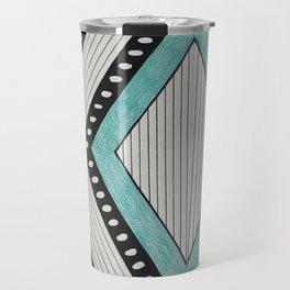 Color Block Stripes Travel Mug