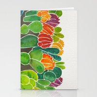 succulents Stationery Cards featuring Succulents by Cat Coquillette