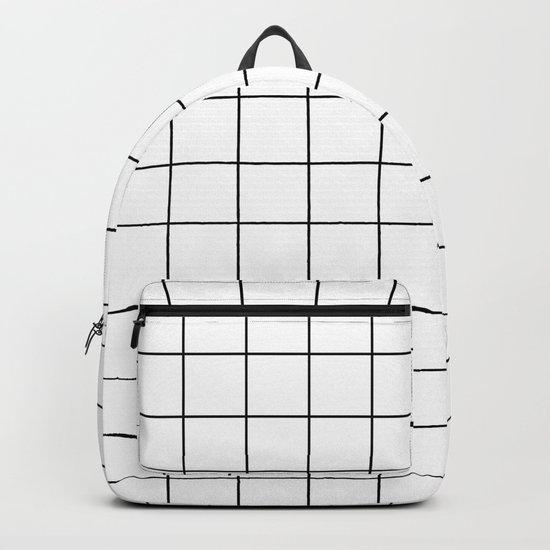 Grid Stripe Lines Black and White Minimalist Geometric by beautifulhomes