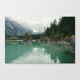 Turquoise lake - Landscape and Nature Photography Canvas Print