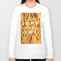 french fries Long Sleeve T-shirts featuring French Fries Diet by Coconuts & Shrimps