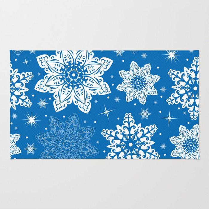 Snowflake pattern Rug