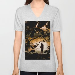 Fishing Unisex V-Neck