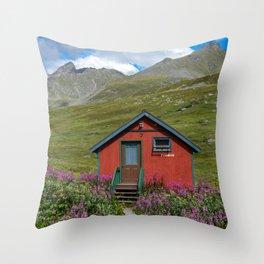 Hatcher_Pass Cabins - Palmer, Alaska Throw Pillow