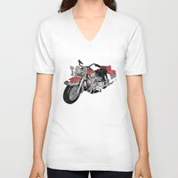 motorbike V-neck T-shirts featuring MotorBike by tuncay cavdar