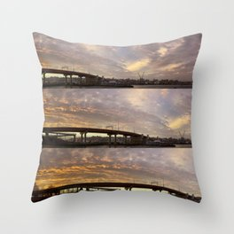 December Sunset on Casco Bay (1) Throw Pillow