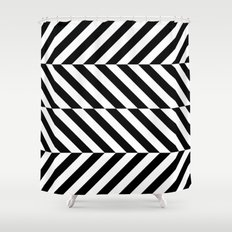 Black and White Op Art Design Shower Curtain