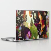 "flora bowley Laptop & iPad Skins featuring ""Deep Peace"" Original Painting by Flora Bowley by Flora Bowley"