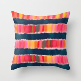 Colorful Watercolor Abstract Throw Pillow