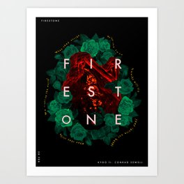 Firestone - Kygo ft. Conrad Sewell (Song Poster) Art Print