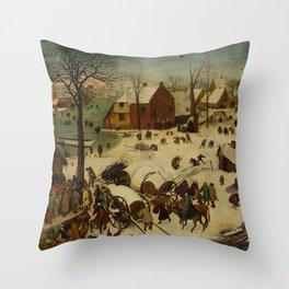 "Pieter Bruegel (also Brueghel or Breughel) the Elder ""The Numbering at Bethlehem"" Throw Pillow"