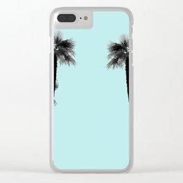 Minimal Black & White Palms #2 #tropical #decor #art #society6 Clear iPhone Case