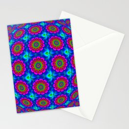 Flower  rainbow-colored Stationery Cards