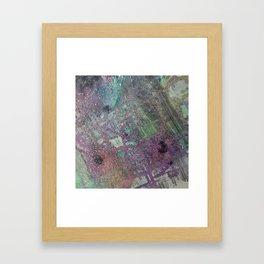 Purpley Glitz Framed Art Print