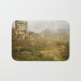 Barolo vineyards, Piedmont, Italy Bath Mat