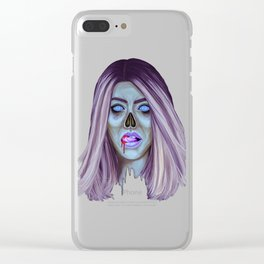 Undead Woman Clear iPhone Case