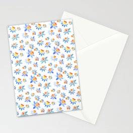 Stylized ornament with the image of daffodils. Stationery Cards