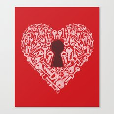 The Key To My Heart Canvas Print