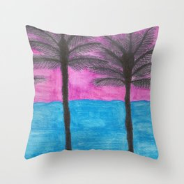 Tropical Getaway Throw Pillow