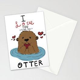 I love you like no Otter Stationery Cards