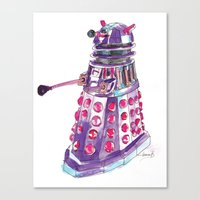 dalek Canvas Prints featuring Dalek by BlueAcorn