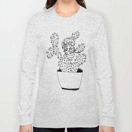 cactus in black Long Sleeve T-shirt