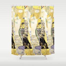 Gustav Klimt Water Snakes Shower Curtain