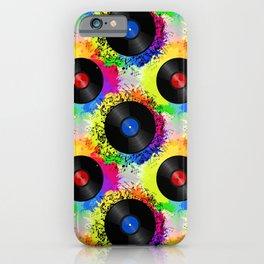 Discjockey Pattern | DJ Music Vinyl Turntables iPhone Case