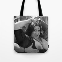 tits Tote Bags featuring Braille: Tits by Plunder O Poet