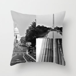 DC Collage Throw Pillow