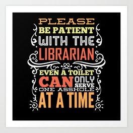 Librarian Saying Funny Gift Art Print