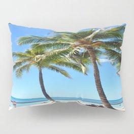 Palm Tree with Hawaii Summer Sea Beach Pillow Sham