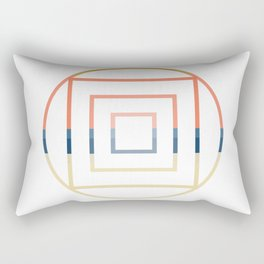 Layered Shapes Rectangular Pillow
