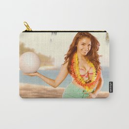 """""""Serves Up"""" - The Playful Pinup - Volleyball Beach Pinup Girl by Maxwell H. Johnson Carry-All Pouch"""