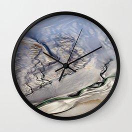 Bronzed Waters, Aerial Roebuck Bay, Broome Wall Clock