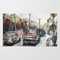 street Area & Throw Rugs featuring Street by Jon Enko
