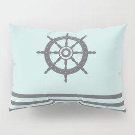 AFE Pale Turquoise and Brown Helm Wheel Pillow Sham