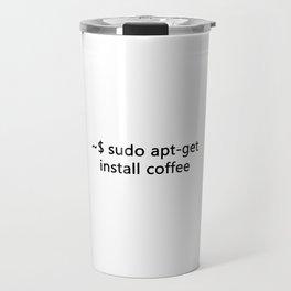 Linux Admin  Sudo apt-get install Coffee Programmer Travel Mug