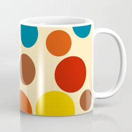 1970s Abstract Art Circles Coffee Mug
