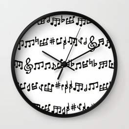 Noteworthy Wall Clock