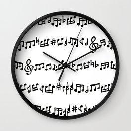 Noteworthy Wall Clock