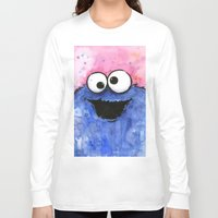 cookie monster Long Sleeve T-shirts featuring Cookie Monster by Olechka