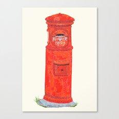 Red Mailbox Canvas Print