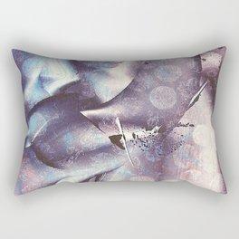 Blue Violet Monoprint Rectangular Pillow