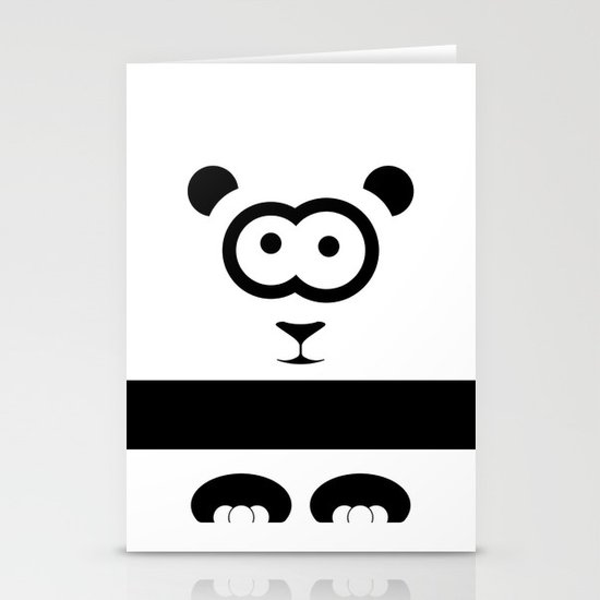 Minimal Panda Stationery Cards