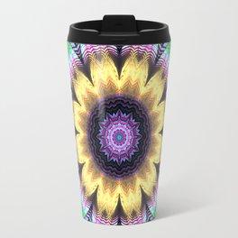 Bright flower mandala Travel Mug