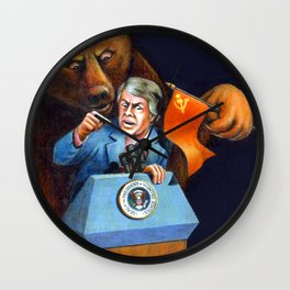 Jimmy Carter Talks Tough to Soviets Wall Clock
